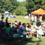 Photo of a recent family festival at the Wyckoff House Museum