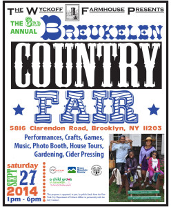 Flyer for the 2014 Breukelen Country Fair