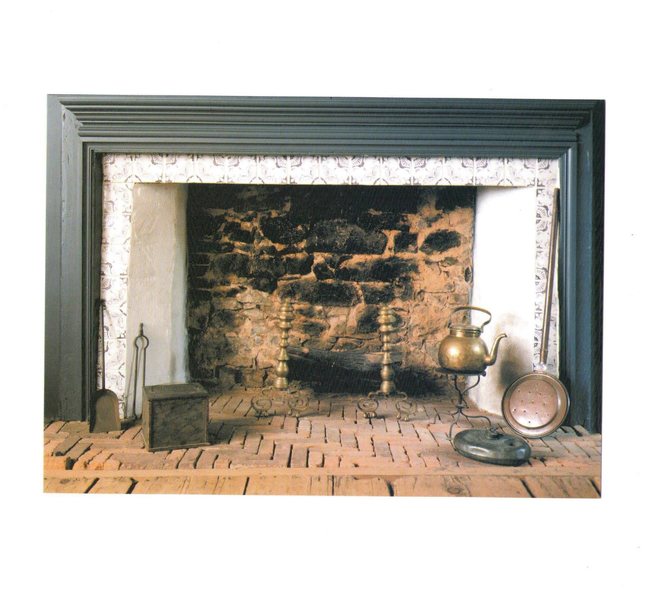 Postcard 18th Century Hearth The Wyckoff House