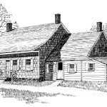 Pen drawing of the Wyckoff farmhouse by Carol Wyckoff