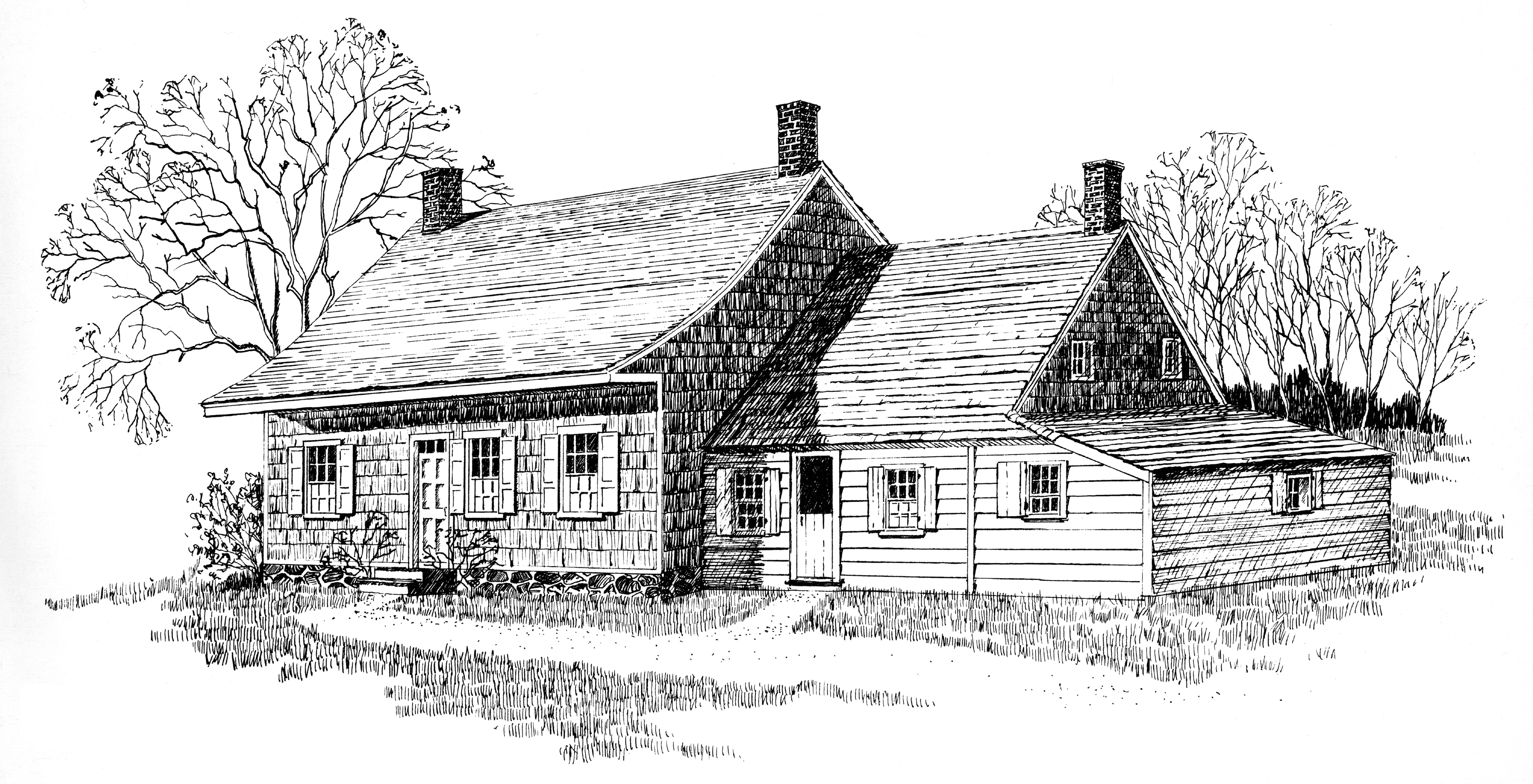 Farmhouse drawing images galleries for Farm house drawings