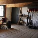 "The Wyckoff farmhouse's original room, the 17th-Century ""Old Kitchen,"" c. 1652, as currently interpreted"