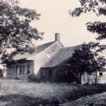 Historic photo of the Wyckoff farmhouse from after 1903