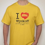 I Heart Wyckoff – Yellow Men's T-shirt
