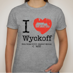 I Heart Wyckoff Woman's shirt