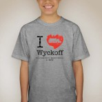 I Heart Wyckoff – Grey Youth T-shirt