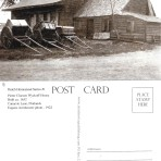 Postcard — Vintage Wyckoff House With Carts