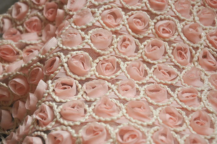 free-shipping-3D-chiffon-roses-handmade-lace-font-b-cloth-b-font-font-b-embroidered-b