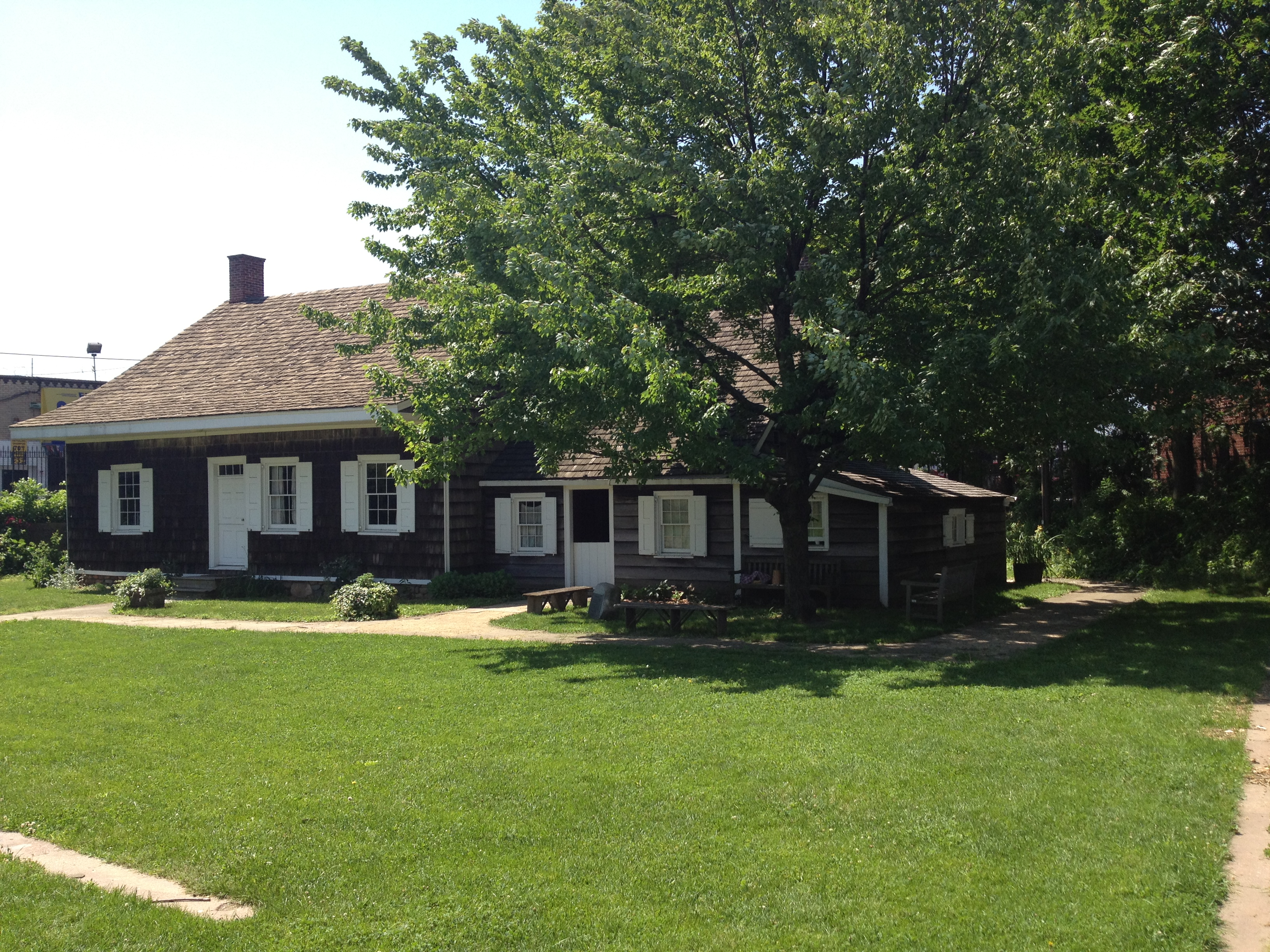 View Of The Small Lawn On Front North Side Farmhouse