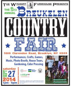 Flyer for the 2014 Breukelen Country Fair