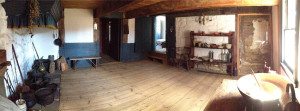 Panorama of the original 1652 kitchen.