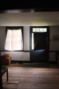 View of the Dutch Door and window on the North side of the Wyckoff farmhouse, currently the museum's main entrance and gift shop