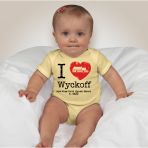 I Heart Wyckoff – Yellow Onesie