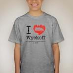 I Heart Wyckoff – Grey Youth T-shirt